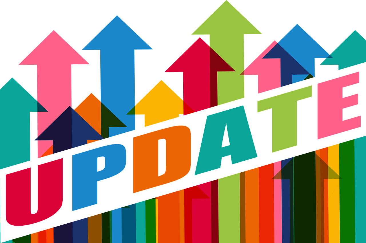 update logo on a multi-color background